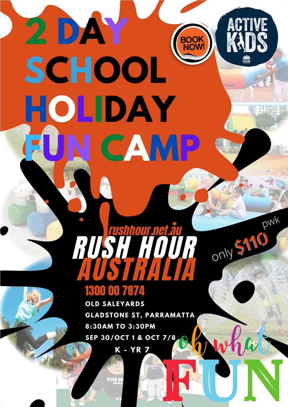 School Holiday Program Poster